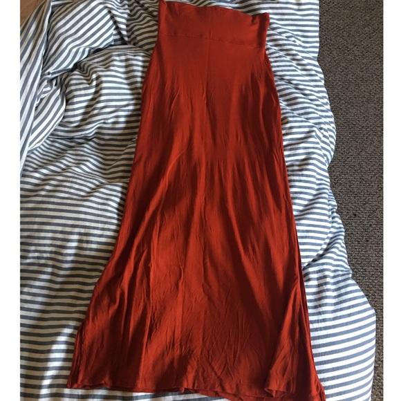 88a9b36fb277 Forever 21 Skirts | Burnt Orange Maxi Skirt | Poshmark